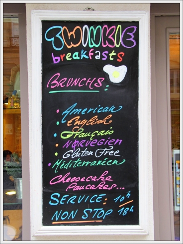 Twinkie paris breakfast menu