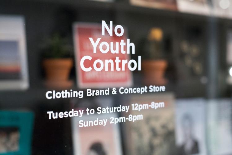 No Youth Control Paris 17 entrance window
